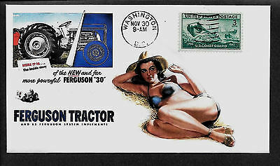 1951 Ferguson Tractor & Pin Up Girl Featured on Collector's Envelope *A428
