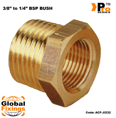 1/4''  to 3/8''  Brass Bush- Air line Fitting-Air Compressor Fitting