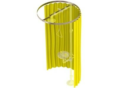 "Bradley S19-330 Privacy Curtain Kit for Drench Showers, Yellow Vinyl 70"" x 145"""