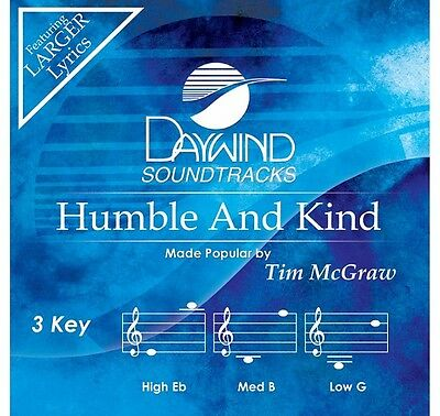 Tim McGraw - Humble And Kind - Accompaniment/Performance Track – New CD