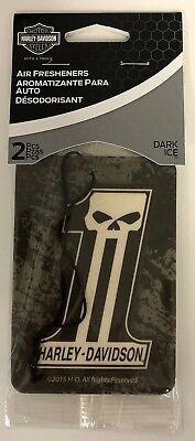 Harley-Davidson 2-pack Air Freshener Dark Ice Dark Custom Number 1  NEW