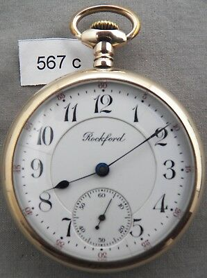 Rockford, 21 Jewel, 16S, Railroad Pocket Watch, Grade 545