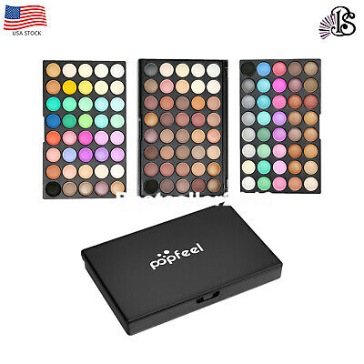 Pro 120 Colors Eyeshadow  Matte Shimmer Eye Shadow Palette Cosmetic Makeup Kit