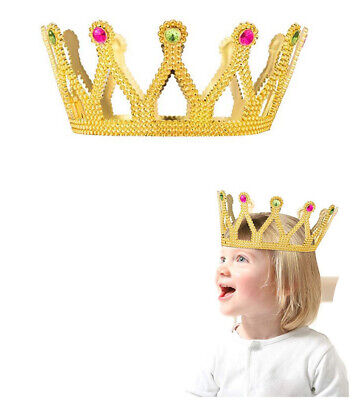 Gold Crown Royal King Queen Princess Crowns Jeweled Costume Accessories