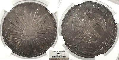 MEXICO 1882-Cn JD 8 Reales NGC MS-63