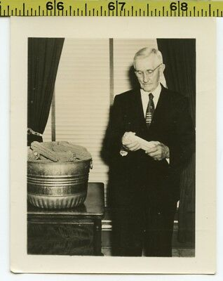 Vintage 1940's photo / Pastor of the Holy Cornholers Sect Prepares the Sacrament