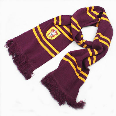 Harry Potter Gryffindor Soft Warm Thicken Wool Kit Scarf Cosplay Wrap Costume