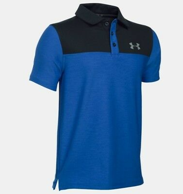 Under Armour  Matchplay Blocked Polo - ultra blue/ black/ graphite Gr. YSM