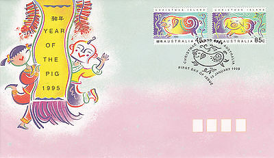 Christmas Island 1995 Year of the Pig FDC