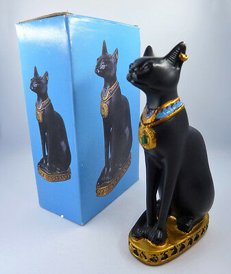 "Egyptian Cat Bast Bastet Goddess Statue Figurine 4"" Tall - Egyptian Collectibles"