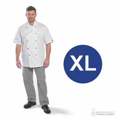 Chef Student Uniform Kit Short Sleeve Coat White With Shoes Cook Extra Large