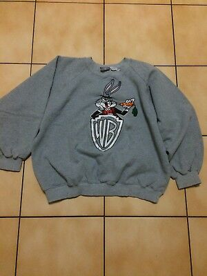 Vintage Warner Bros 1991 Bugs Bunny Sweater Size Men's Medium 90s