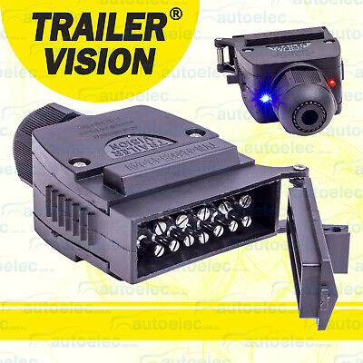 Trailer Vision 12 Pin Flat Male Led Breakaway Plug Connector Boat Caravan Camper