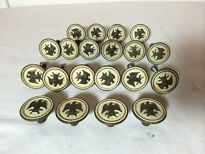 VINTAGE AMERICAN Eagle Brass Knob  Drawer Pull  Americana Replacement