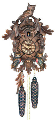 Herr 820/8V Cuckoo Clock W/ Owls.. New! (Authentic German/black Forest)