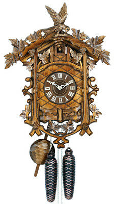 Hekas 849.. 8 Day Cuckoo Clock.. Gorgeous!! New! (Authentic German/black Forest)