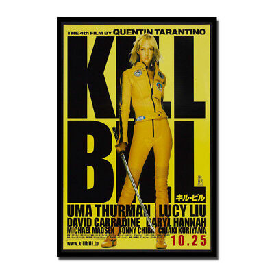 Kill Bill Classic Movie Silk Fabric Poster Canvas Art Print 12x18 24x36 inch