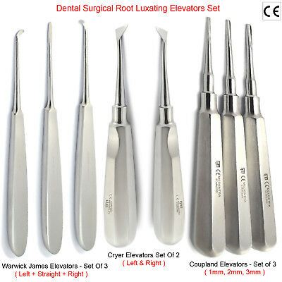 Dental Tooth Extraction Coupland Root Luxating Warwick-James Elevators Cryer Set