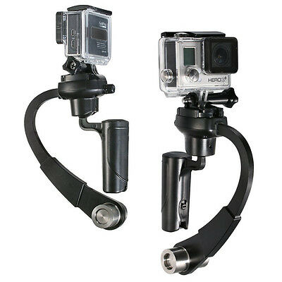 Black Handheld Stabilizer Video Steadicam Gimbal For GoPro Hero 3+ 4 5 6 7 Black