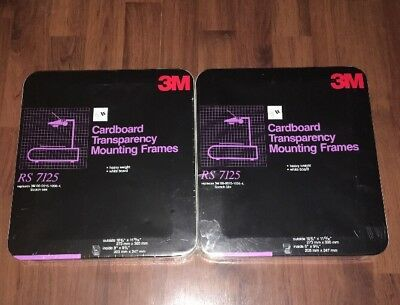 3M Cardboard Transparency Mounting Frames RS 7125 (50 Count) - NEW 2 Pkgs