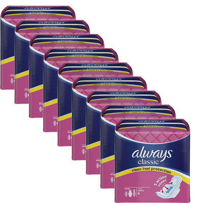 Always Classic Maxi Towels 9 x 9 Pads With 3 Action Zones ( 81 Pads)