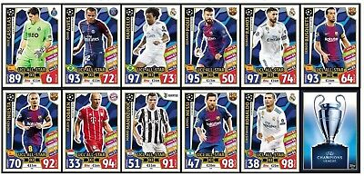 2017 2018 UEFA Champions League Match Attax UCL ALL STAR XI CARDS - YOU PICK