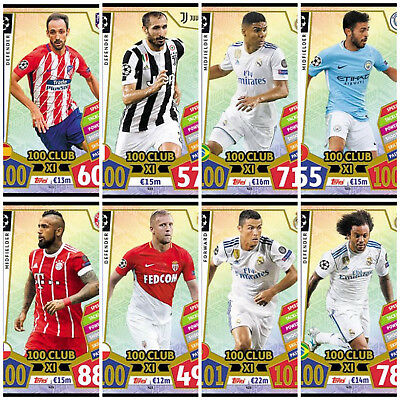 2017 2018 UEFA Champions League Match Attax 100 CLUB XI CARDS - YOU PICK