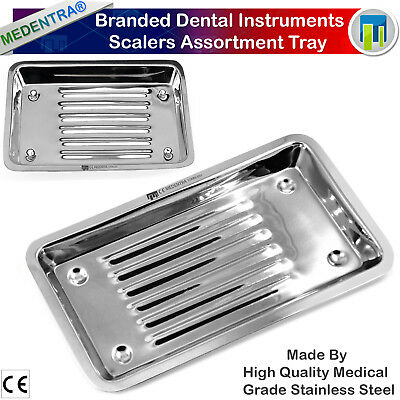 Dental Instruments Set Up Scalers Assortment Tray Surgical Dish Trays Steel Rack
