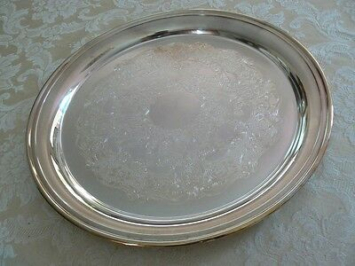 Gorgeous Antique Vintage Wallace Silverplate Round Scrolled Center Serving Tray