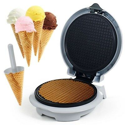 Electric Waffle Cone Maker and Cone Form Homemade Cones without Preservatives