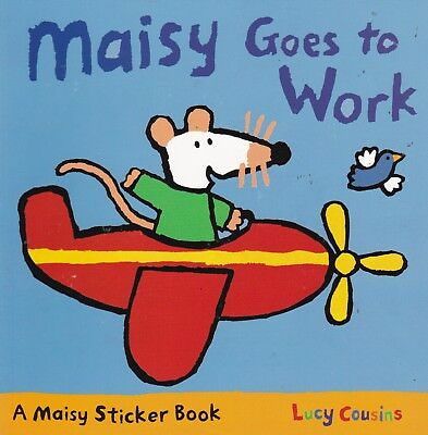 Maisy Goes To Work, Lucy Cousins, Sticker Book, New