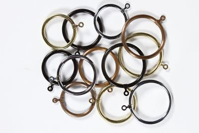 Hollow Brass Curtain Rings - Antique Bronze Finish - 70mm