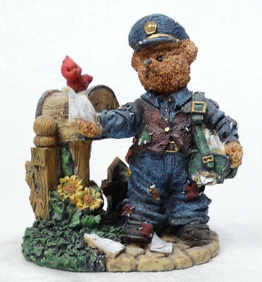 "Boyds Bears Mailman Postman Figurine Excellent - No box 4.5"" Tall"