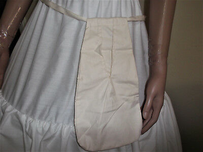 POCKET* UNDER-SKIRT* TIE-ON Civil War LADY DRESS REENACTOR 1860 VICTORIAN WOMEN