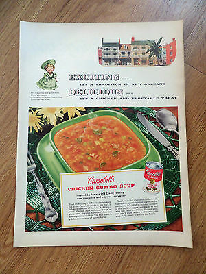1953 Campbell's Soup Ad  It's a Tradition in New Orleans