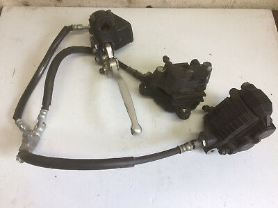 OEM complete front disc brake system from 1994 SUZUKI GSX600F Katana motorcycle