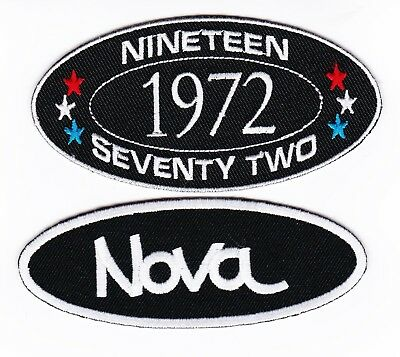 1972 Chevy Nova Sew/iron On Patch Emblem Badge Embroidered Hot Rod Muscle Car