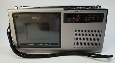 Vintage Epson (ET-10) Analog Elf Color Battery Operated Pocket Television