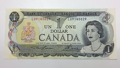 1973 Uncirculated 1 One Dollar Lawson Bouey Canadian Banknote C904