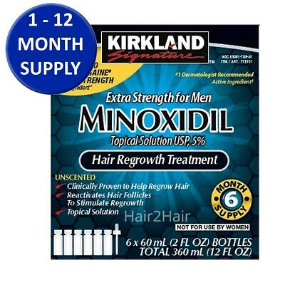 Kirkland Signature Minoxidil 5% Solution For Men 1-12 Months