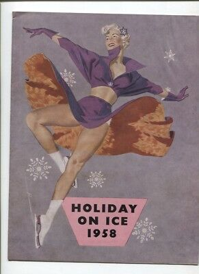 N°11033 / programme officiel tournée Holiday on Ice 1958 texte français