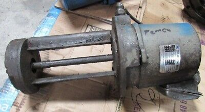 Yeong Chyuan Coolant Pump Motor Type Vc- 1/4Hp,  From Femco Lathe, Item A