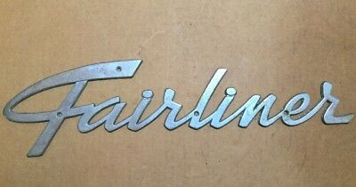 Vintage Fairliner Emblem Boat? Chrome 1950-1960s?