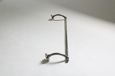 antique towel bar rod rack holder | art deco victorian bath vtg brass nickel