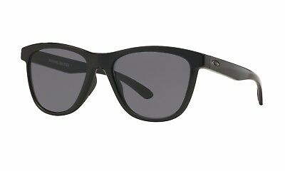 Oakley Moonlighter OO9320-01 Polished Black Grey Women's Square Sunglasses 53-mm