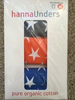 NEW HANNA ANDERSSON Boys Organic Star Unders Underwear L 140 150 9 10 11 12 13