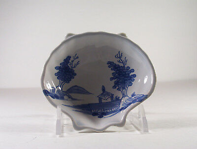 Oud Delft clam shaped salt trinket dish for Colonial Williamsburg