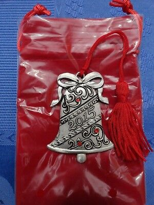 2015 AVON BELL PEWTER COLLECTIBLE ORNAMENT very Rare * Boxing day sale
