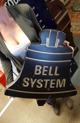 "Bell System Aluminum Building Sign-Vintage-Telephone-24""-Western Electric Sign"