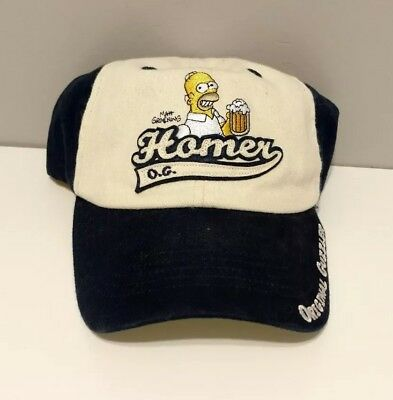 Homer Simpson O.G. Original Guzzler Ball Cap Hat RARE 2004 The Simpsons